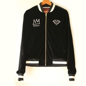 NWT Diamond x Basquiat Reversible Black Bomber S